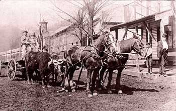 Hammondsville Main Street about 1906